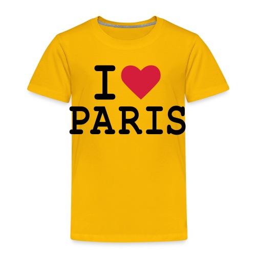 T-Shirt I Love Paris Enfant B&C - T-shirt Premium Enfant