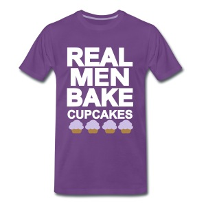 real men bake cupcakes - Männer Premium T-Shirt