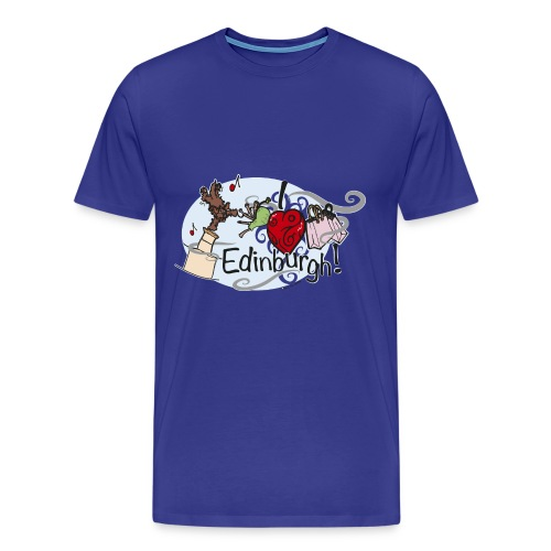 I LOVE Edinburgh - Men's Premium T-Shirt