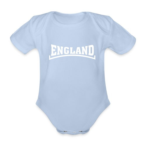 england baby red - Organic Short-sleeved Baby Bodysuit