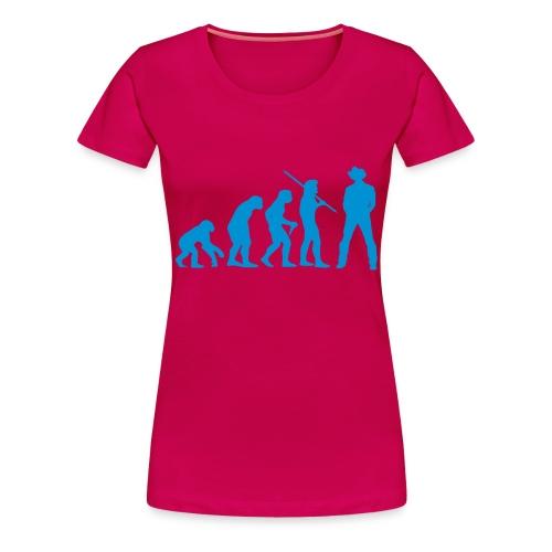 Evolution Cowboy - Frauen Premium T-Shirt