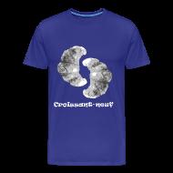 T-Shirts ~ Men's Premium T-Shirt ~ Croissant-neuf (blue)
