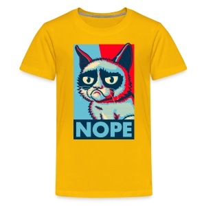 Nope Cat - Teenager Premium T-Shirt