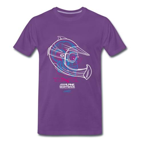 Skully - Alpine Commencal - INDIGO - Männer Premium T-Shirt