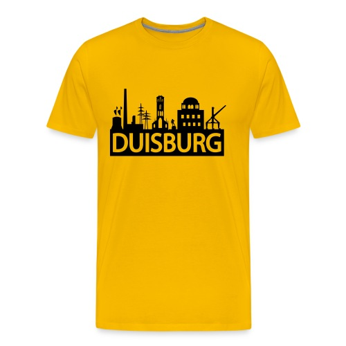 Skyline Dusiburg - Männer T-Shirt klassisch - Männer Premium T-Shirt
