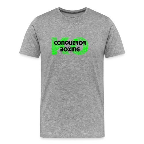 CONQUEROR KO LIME 'IT'S ALL ABOUT THE SKILLS' Back Of T-shirt  - Men's Premium T-Shirt
