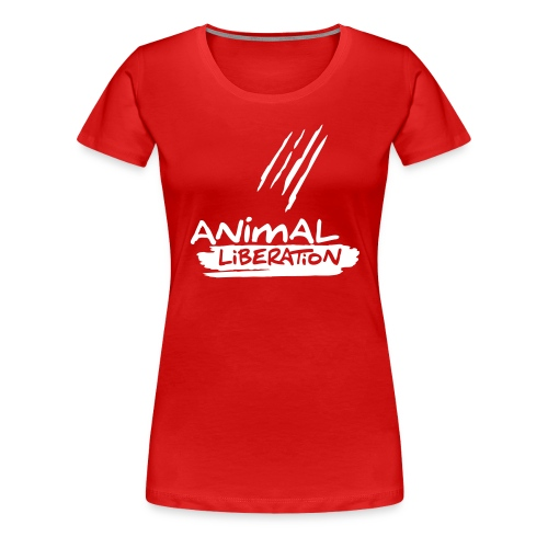 Womens Shirt 'Animal Liberation' - Frauen Premium T-Shirt