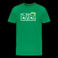 T-Shirts ~ Men's Premium T-Shirt ~ I DJ - with 2 Vinyl Turntables - 2 color flex