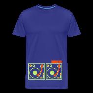 T-Shirts ~ Men's Premium T-Shirt ~ I DJ - with 2 Turntables - flex print, 2 colors