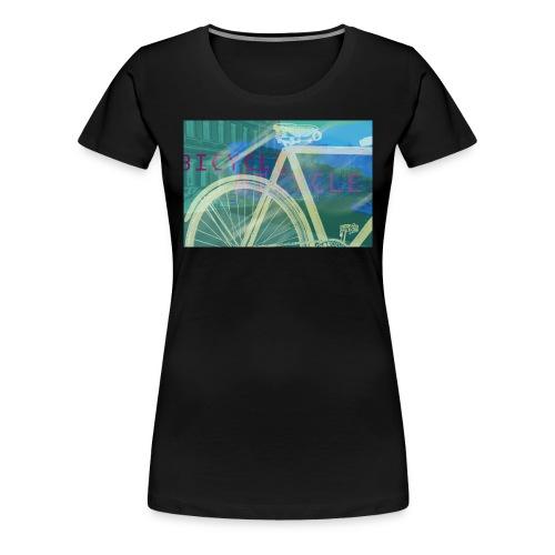 bicycle in green-blue - Frauen Premium T-Shirt