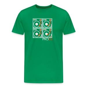 I DJ - 4 Turntable - PRO DJ - 2 color FLOCK print - Men's Premium T-Shirt