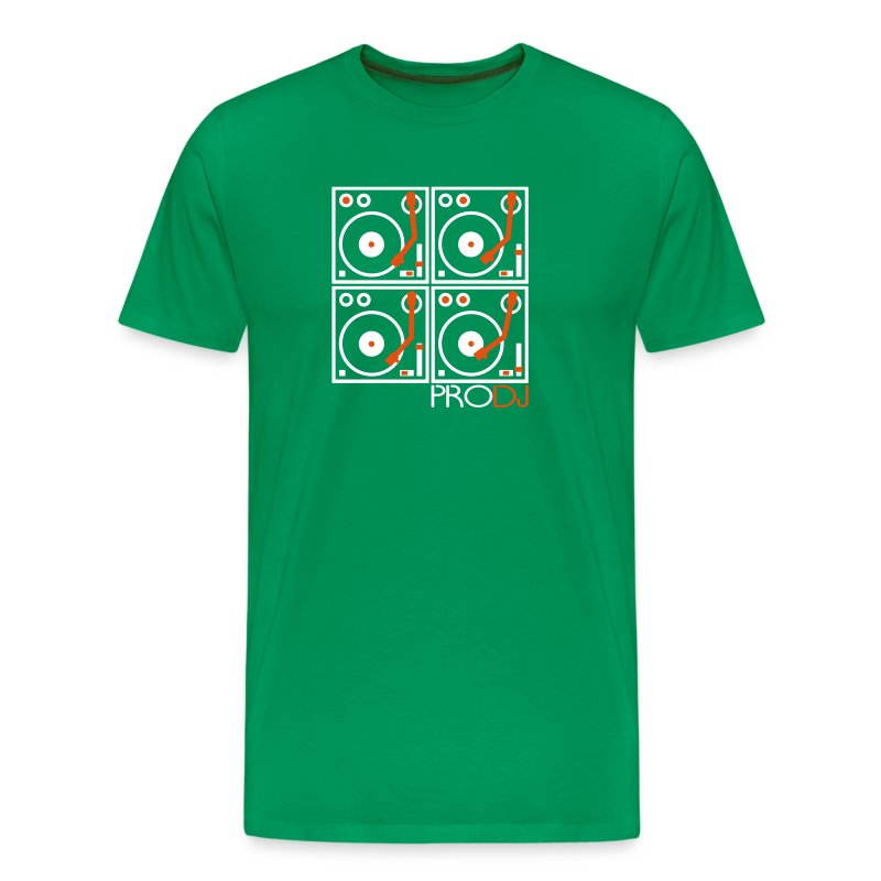 I DJ - 4 Turntable - PRO DJ - 2 color FLOCK print - Men's Premium T-Shirt