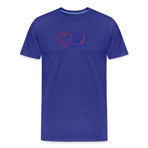 I DJ - Love DJ - Heart DJ - 2 color flex pring - Men's Premium T-Shirt