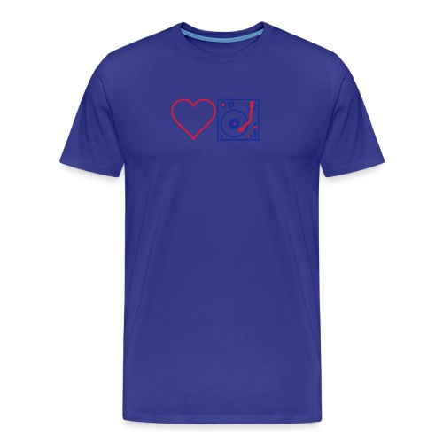 I DJ - Love DJ - Heart DJ - 2 color flex pring - Men's Premium T-Shirt