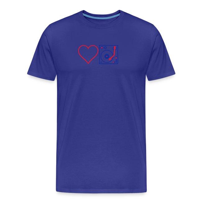 I DJ - Love DJ - Heart DJ - 2 color flex pring