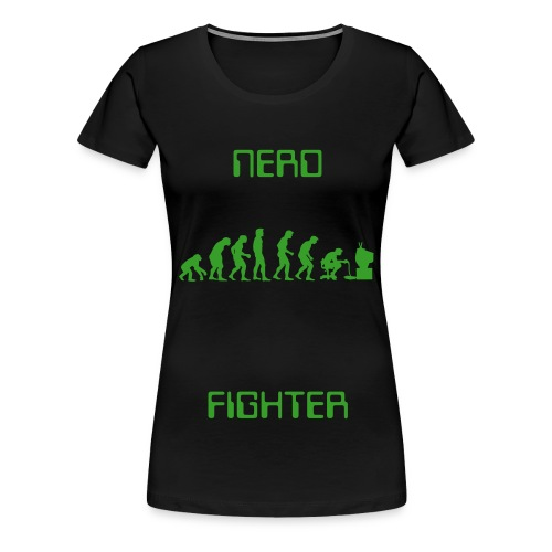 Womens Nerd Fighter T-shirt - Women's Premium T-Shirt