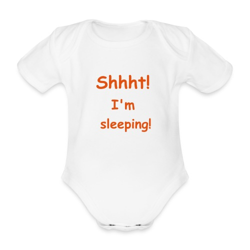 Sleeping baby - Organic Short-sleeved Baby Bodysuit
