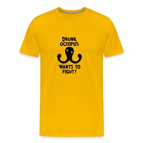 Drunk Octopus Wants To Fight Shirt - Männer Premium T-Shirt