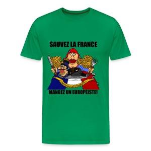 T-SHIRT premium homme mangez un europeiste! - T-shirt Premium Homme
