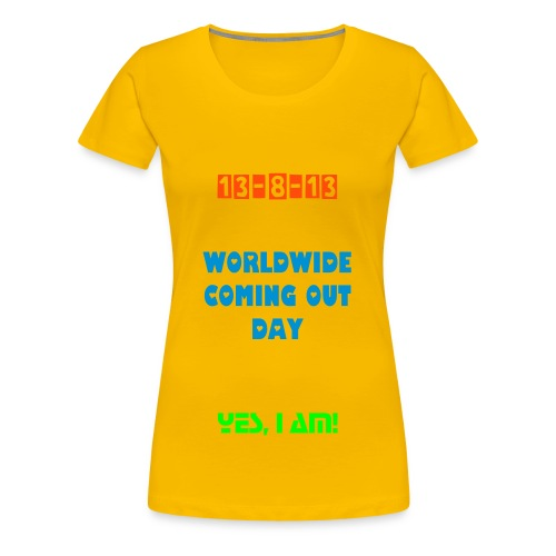 Worldwide Coming Out Day T-Shirt for Man - Women's Premium T-Shirt