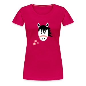 Cute Pony with Flowers T-Shirt - Women's Premium T-Shirt