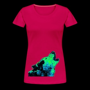 Glitch Wolf - Women's Premium T-Shirt