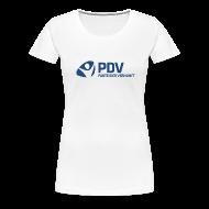 T-Shirts ~ Frauen Premium T-Shirt ~ T-Shirt PDV-Logo groß für Frauen