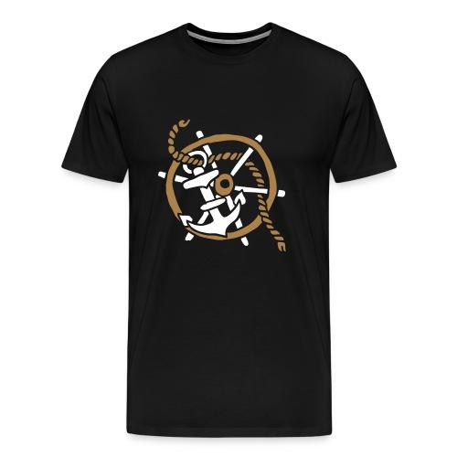 Anker Seemann Anchor Sailor Tattoo Oldschool SOS - Männer Premium T-Shirt
