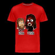 T-Shirts ~ Men's Premium T-Shirt ~ Chibi Kane and Bryan - Yes No