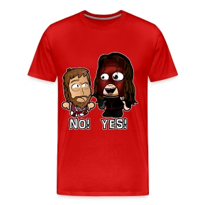Chibi Kane and Bryan - Yes No - Men's Premium T-Shirt