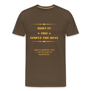 Shirt - Born in 1963 - Männer Premium T-Shirt