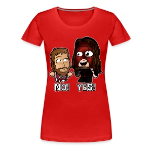 Chibi Kane and Bryan - Yes No (Female) - Women's Premium T-Shirt