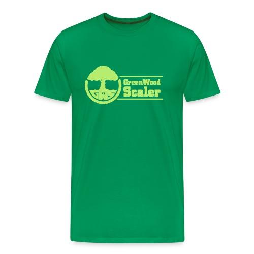 Shirt bottlegreen / Logo hellgrün - Männer Premium T-Shirt