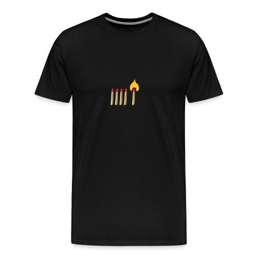 Streichholz Matchsticks Feuer Fire brennen burning - Männer Premium T-Shirt
