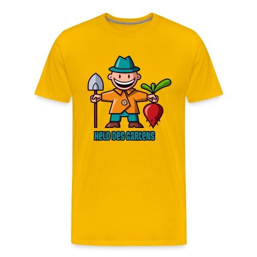 vl098e_gaertner_4c_schrift - Männer Premium T-Shirt