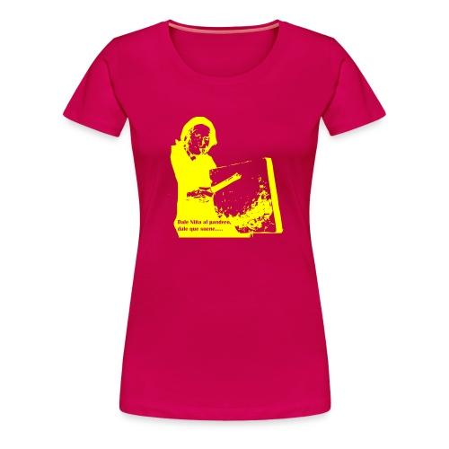 Pandero cuadrado - Camiseta premium mujer