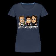 T-Shirts ~ Women's Premium T-Shirt ~ Chibi Supernatural - Hey Assbutt Shirt (Female)