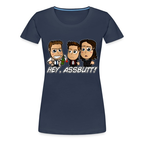 Chibi Supernatural - Hey Assbutt Shirt (Female) - Women's Premium T-Shirt