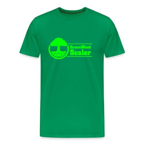 Shirt grün / Logo neongrün - Männer Premium T-Shirt