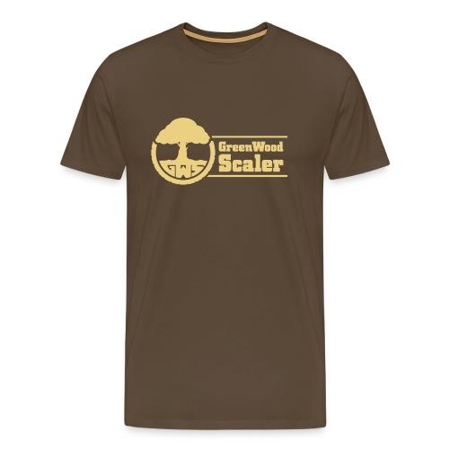 Shirt braun / Logo beige - Männer Premium T-Shirt