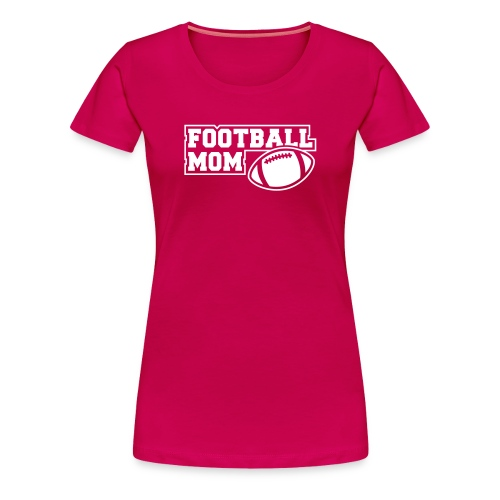 Girlie Footballmom pink/white - Frauen Premium T-Shirt