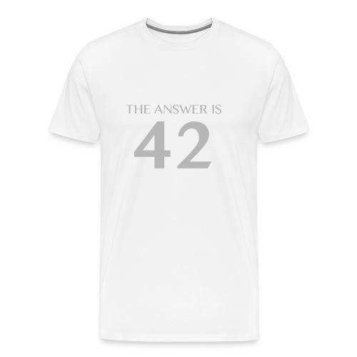Answer is 42 Men's Big & Tall Shirt - Men's Premium T-Shirt