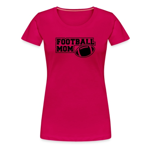 Girlie Footballmom pink/black - Frauen Premium T-Shirt
