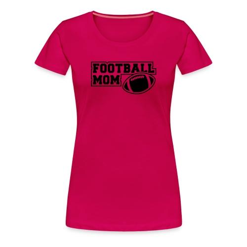 Girlie Footballmom pink/black - Frauen Premium T-Shirt