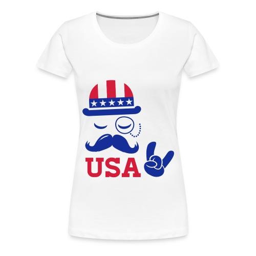 T-Shirt Like A Boss USA - Vrouwen Premium T-shirt
