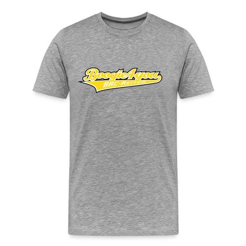 T-Shirt Nr.01 Gelbes-Logo Flock - Männer Premium T-Shirt