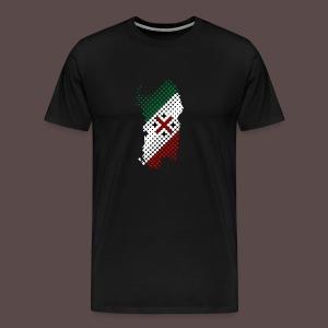 Sardegna, Tricolore Sardo (uomo) - Maglietta Premium da uomo