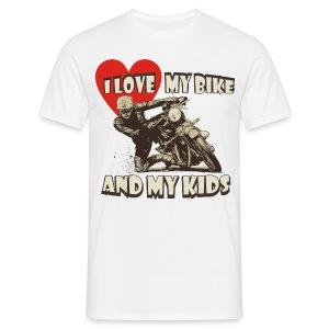 I love my bike & kids - Men's T-Shirt