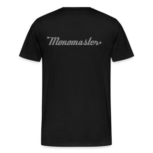 Logo back; Übergröße - Männer Premium T-Shirt