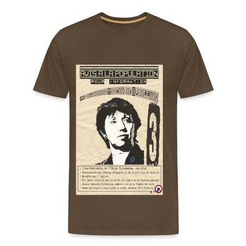 T-SHIRT premium homme lady Ashton (avis à la population) - T-shirt Premium Homme
